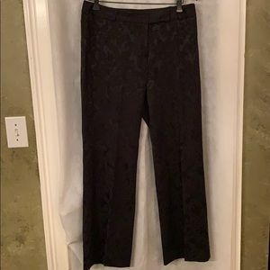 Context black damask dress pants size 8